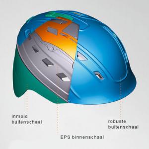 hybride skihelm constructie