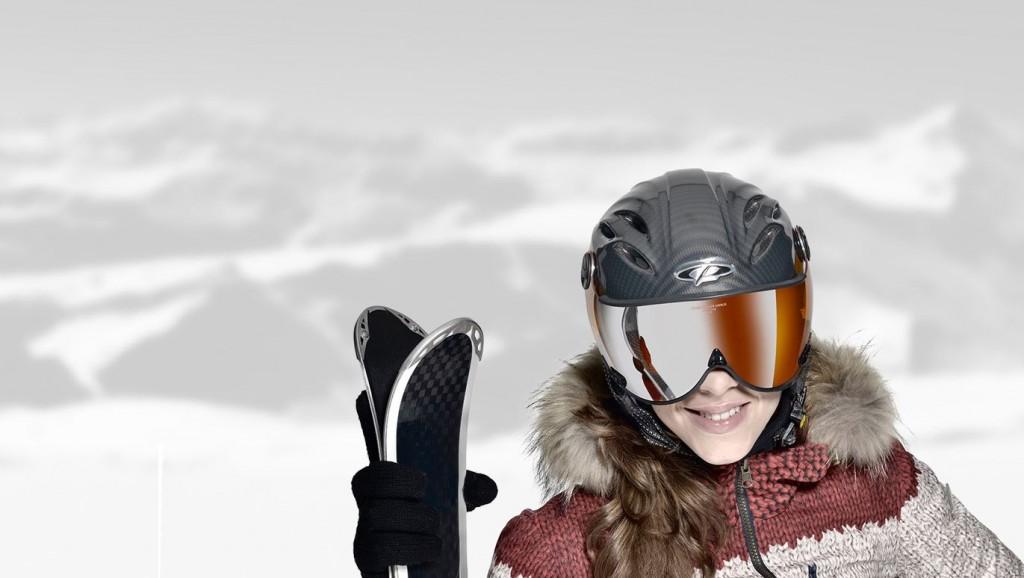de skihelm met vizier heeft veel voordelen en is de skihelm van de toekomst
