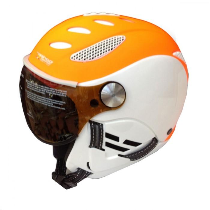 Mango Cusna Pro Visor Skihelm met Vizier White Orange Fluo