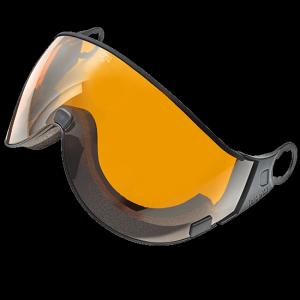 oranje vizier skihelm zonder spiegel mirror coating
